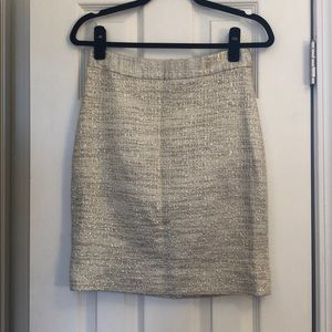 kate spade metallic pencil skirt size 0